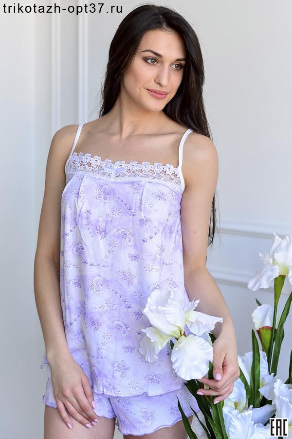 Пижама женская, модель 02БР (кулирка)
