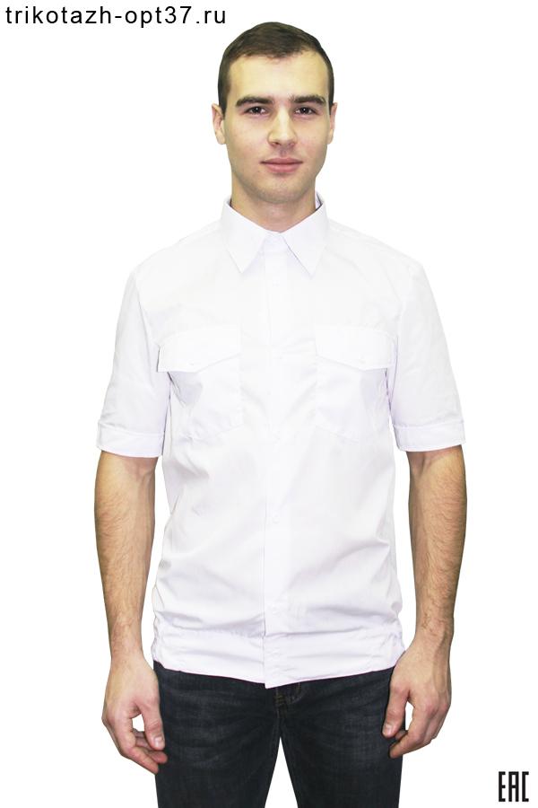 Новинка - Рубашка охранника белая, короткий рукав, на поясе