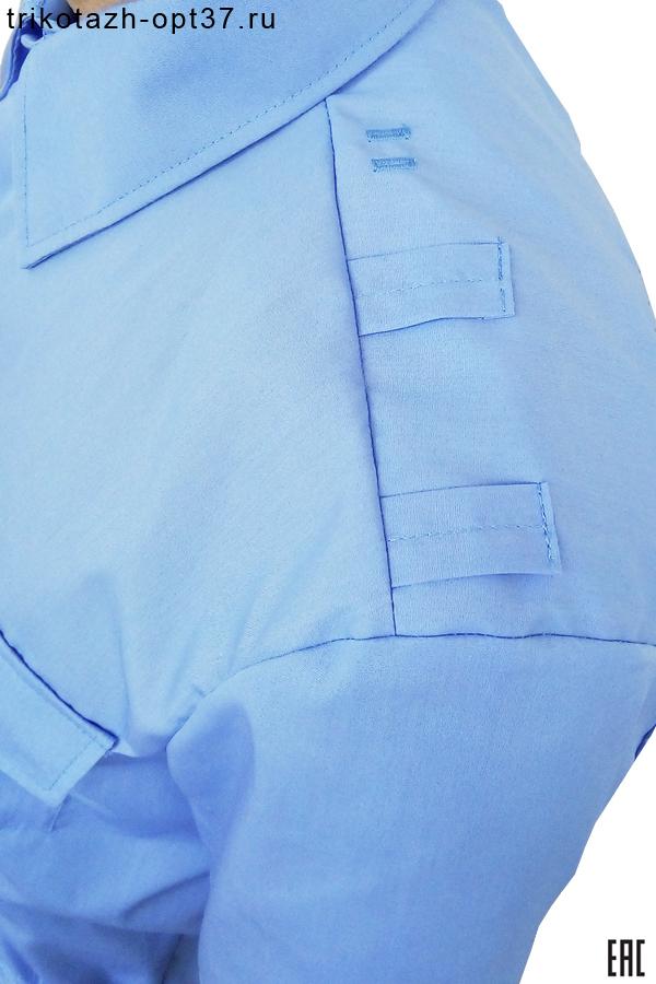 Рубашка охранника со шлевками, короткий рукав, на поясе