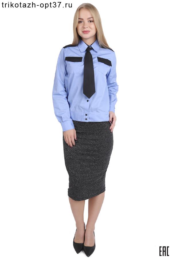 Рубашка охранника, длинный рукав, на поясе, женская
