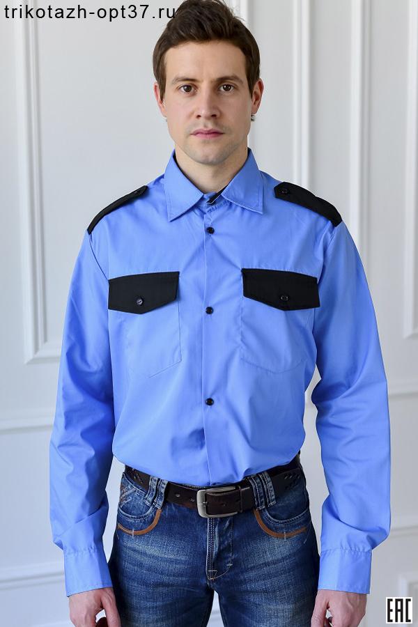 Рубашка охранника, длинный рукав, под заправку