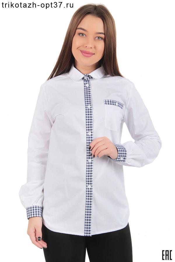 Новинка - Рубашка белая с отделкой, женская
