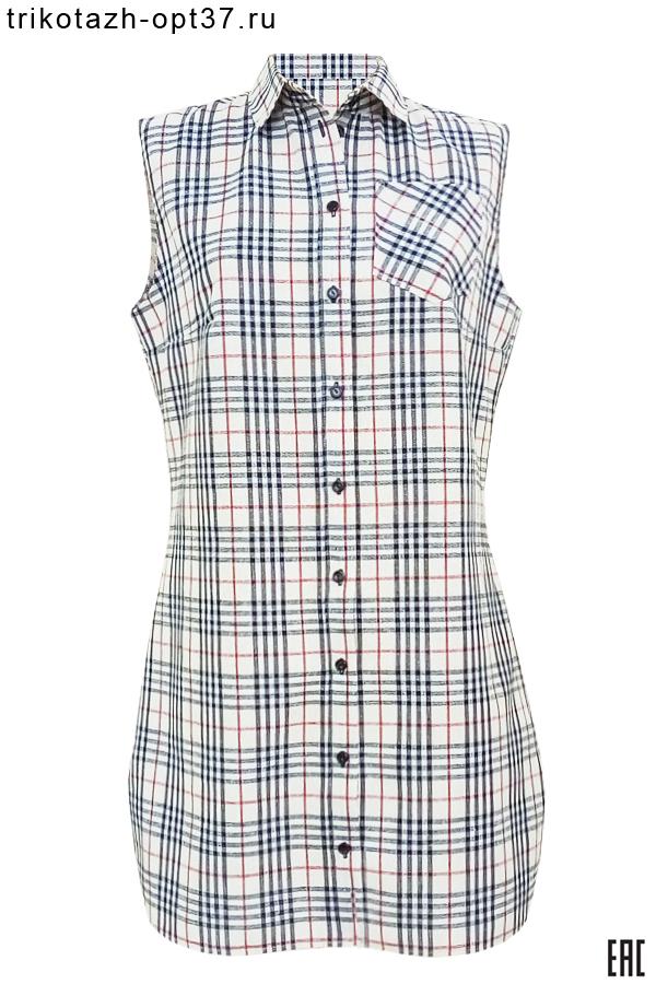 Новинка - Рубашка женская удлиненная, безрукавная
