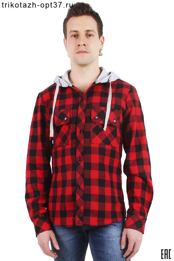Новинка - Рубашка в клетку с капюшоном, длинный рукав, 2 кармана