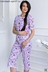 Пижама женская, модель 07 (кулирка)