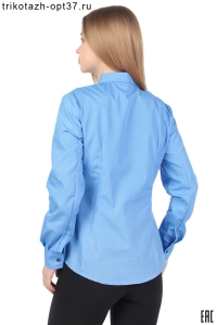 Новинка - Рубашка корпоративная голубая (с вышивкой)