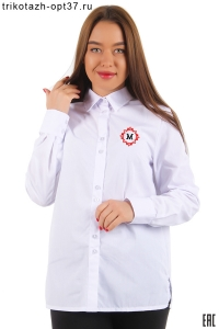 Новинка - Рубашка корпоративная белая (с вышивкой)