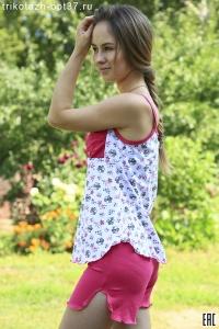Пижама женская, модель 01 (кулирка)