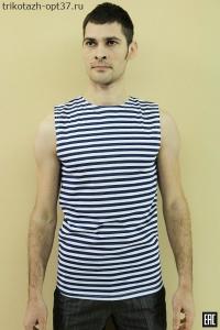 Майка мужская, модель 03 полоса (кулирка)
