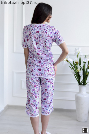 Пижама женская, модель 07 (кулирка), скидка