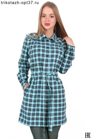 Новинка - Платье-рубашка в клетку, распашное