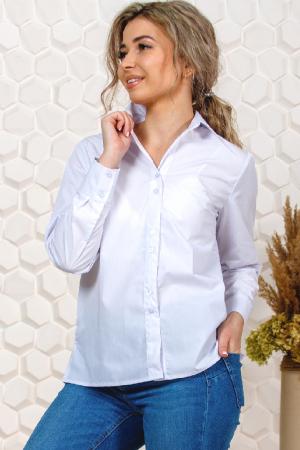Рубашка белая женская, длинный рукав
