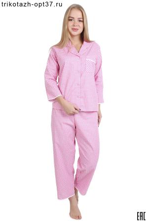 Пижама женская из поплина, хлопок 100%