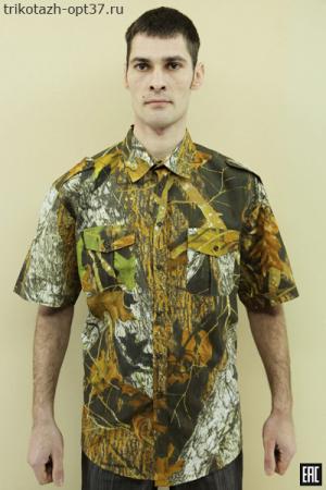 Рубашка камуфляж (лес), короткий рукав