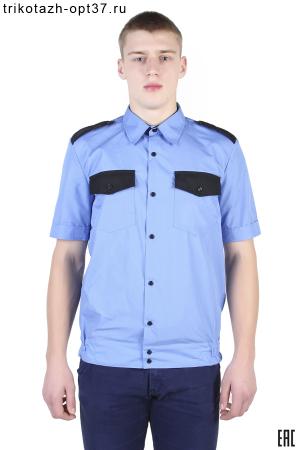 Рубашка охранника, короткий рукав, на поясе
