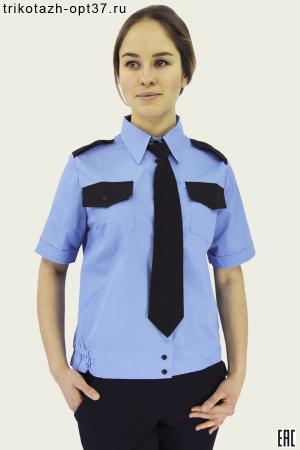 Рубашка охранника, короткий рукав, на поясе, женская