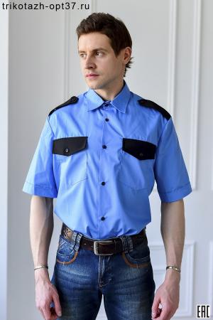 Рубашка охранника, короткий рукав, под заправку