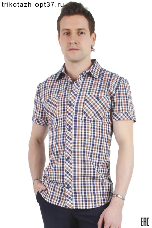 Рубашка приталенная, короткий рукав, ПК-32, в ассортименте