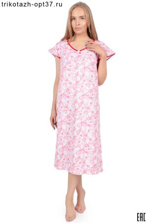 Сорочка ночная женская, модель 04 (кулирка)