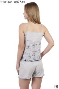 Пижама женская, модель 08 (кулирка)