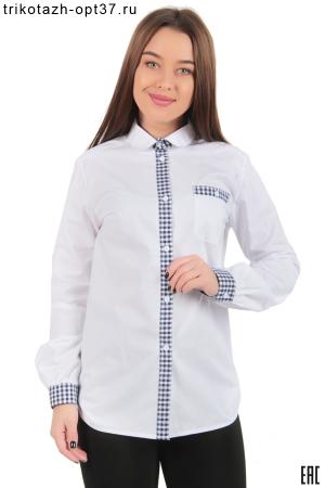 Рубашка белая с отделкой, женская