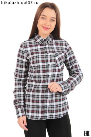Новинка - Рубашка в клетку теплая женская, фуле, модель Ф01