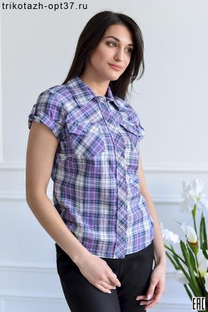 Рубашка в клетку женская, шотландка, модель 02/КР
