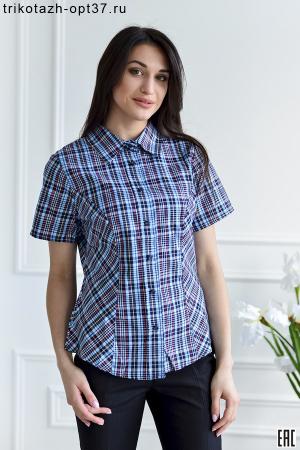 Рубашка в клетку женская, шотландка, модель 05/КР