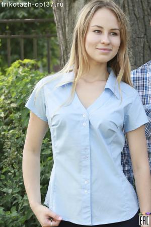 Рубашка однотонная женская, модель 12