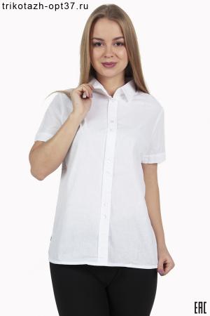 Рубашка однотонная офисная, короткий рукав РО-3