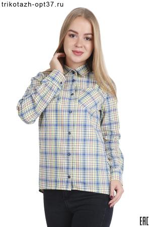 """Рубашка в клетку женская, с длинной спинкой """"Бритиш"""" (рис. 2)"""