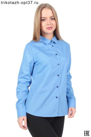 Рубашка корпоративная голубая, длинный рукав