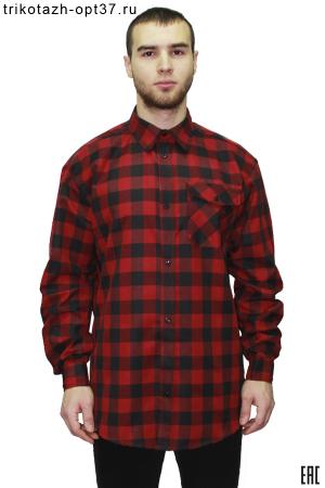 Новинка - Рубашка в клетку, длинный рукав, 1 карман