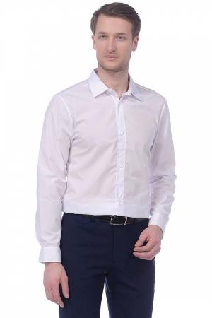 Рубашка белая, приталенная, длинный рукав
