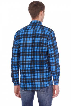 Рубашка в клетку, фланель, длинный рукав, 2 кармана