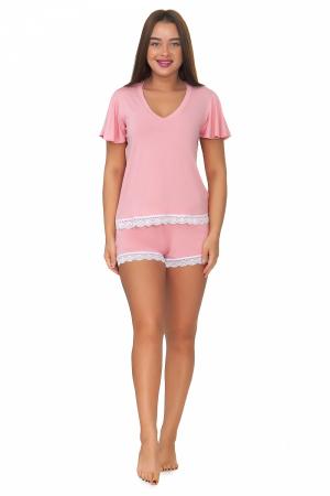 Пижама женская, модель 10, розовый (вискоза)