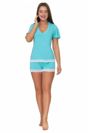 Пижама женская, модель 10, бирюзовый (вискоза)
