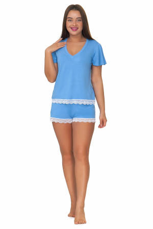 Пижама женская, модель 10, голубой (вискоза)