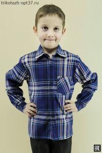 Рубашка детская/подростковая, шотландка, длинный рукав