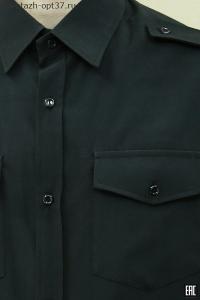Рубашка охранника, длинный рукав, под заправку, черная