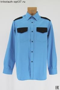 Рубашка охранника, бирюза