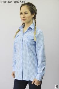 Рубашка женская в клетку, модель 10