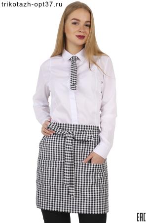 Рубашка женская белая для сотрудников ресторанов, баров, кафе