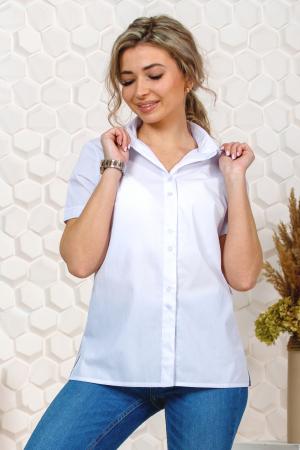 Рубашка белая женская, короткий рукав