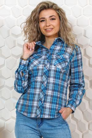 Рубашка в клетку женская, модель 03/ДР в ассортименте