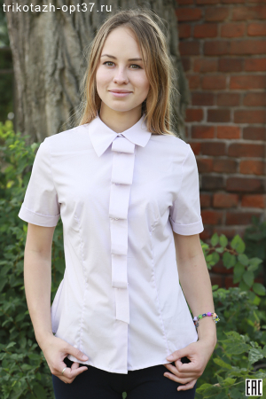Рубашка однотонная для женщин, модель 9 с галстуком