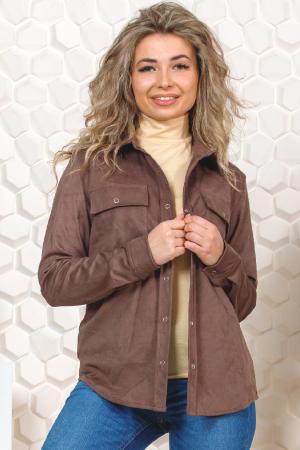 Жакет женский замша, цвет какао