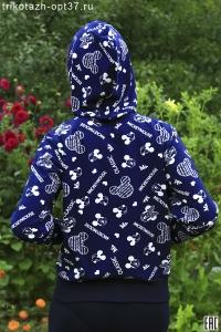 Куртка молодежная с капюшоном, модель КМ-018