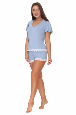 Пижама женская, модель 10, нежно-голубой (вискоза)