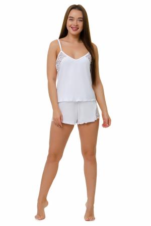 Пижама женская, модель 11, белый (вискоза)